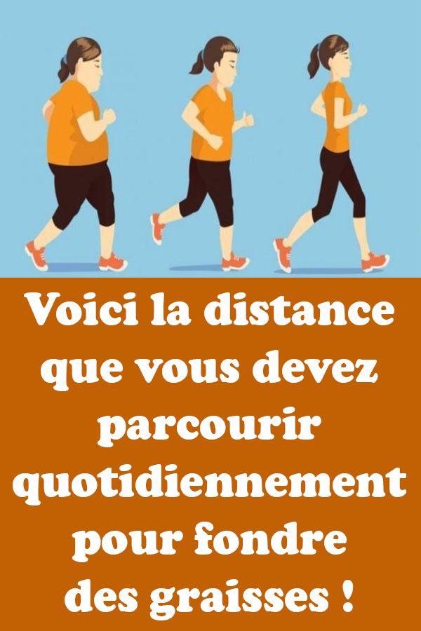 quelle distance courir pour maigrir