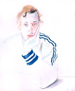 David Hockney Drawings | Gregory, 1978 c rayon on p aper, 17x14 in.