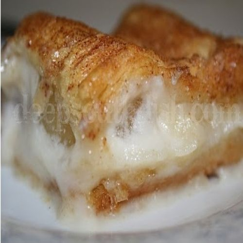 Apple and Cream Cheese Dessert-ii,Prep Time:10 Minutes,Cooking Time:30 Minutes,Serves:4-6 Servings,Directions:Preheat oven to 350 degrees. Spray an 8