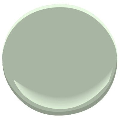 I just painted my kitchen this color! 466 Garden Path   Classic Colors by Benjamin Moore