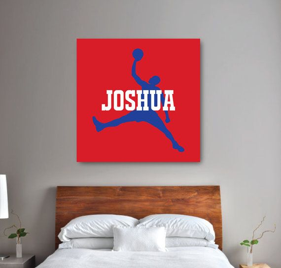 Boy's Basketball Bedroom Wall Art  1.5 by GatheredNestDesigns