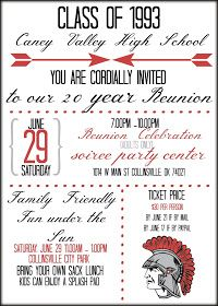 17 Best images about High School Reunion Invites on Pinterest ...
