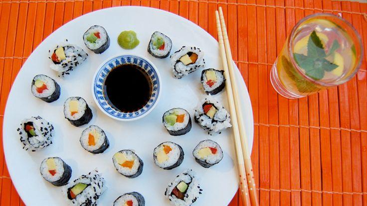 Receta de Sushi Vegetariano: cómo hacerlo en casa! | GreenVivant