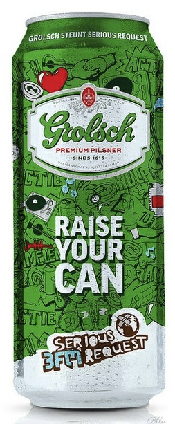 Rexam has produced special edition Grolsch cans to support the firm's partnership with 3FM Serious Request, an annual charity fundraising event run by Dutch radio station 3FM. PD