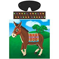 CLOWN Circus Party Game Childrens Birthday Game pin the tail on the donkey