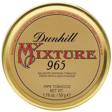 Dunhill My Mixture 965  One of my absolute favorites. Latakia heavy. Raisiny. With a hint of sweetness from the Black Cavendish