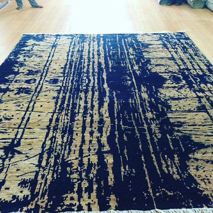 Hand knotted low pile rug $@6.75/sq.ft