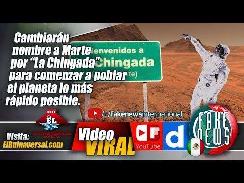 """Cambiarán nombre a Marte por """"La Chingada"""" para comenzar a poblar el pla..."""