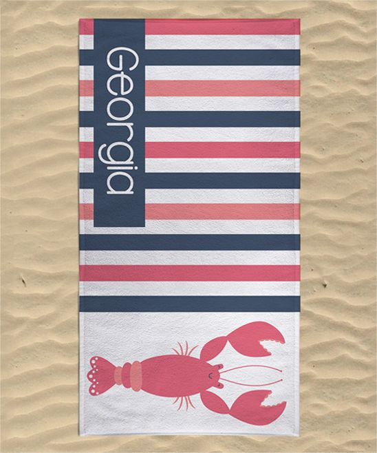 Lobster Personalized Towel