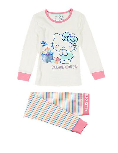 Hello Kitty Pure Cotton Stay Soft Pyjamas (1-7 Years) | M&S