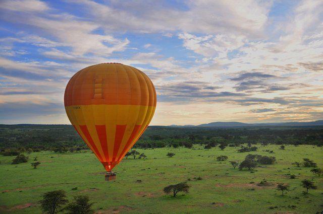 Kafue National Park in Zambia hot air balloon