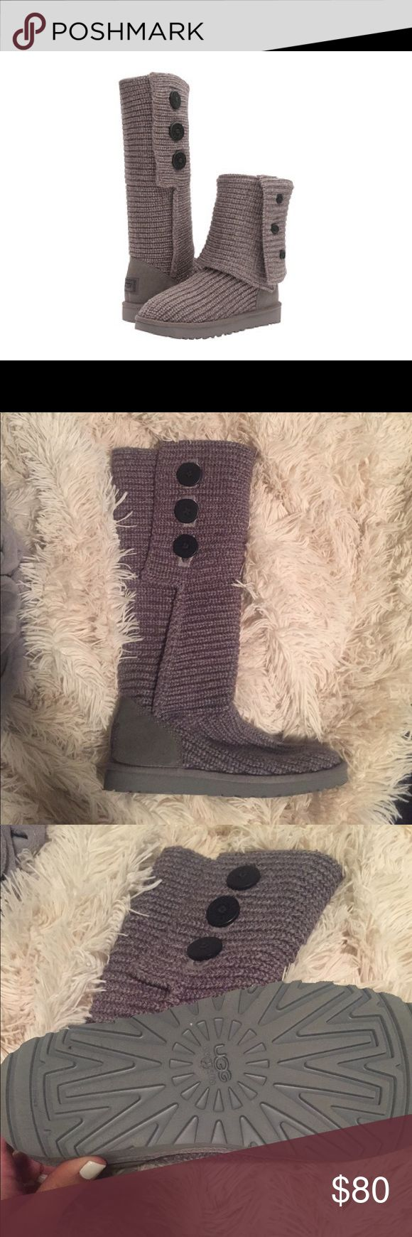 UGG Classic Cardy Boots Classic Cardy boots in gray, women's size 7.  These boots have only been worn a few times. UGG Shoes Winter & Rain Boots