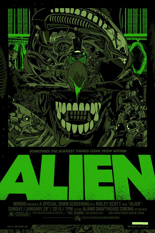Mondo has revealed Tyler Stout's poster for Ridley Scott's Alien. The regular is an edition of 510 and costs $60. The green variant is an edition of 235 and costs $110. Both measure 24x36 and will go...