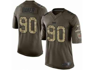 Nike Tampa Bay Buccaneers 90 Chris Baker Limited Green Salute to Service NFL Jersey
