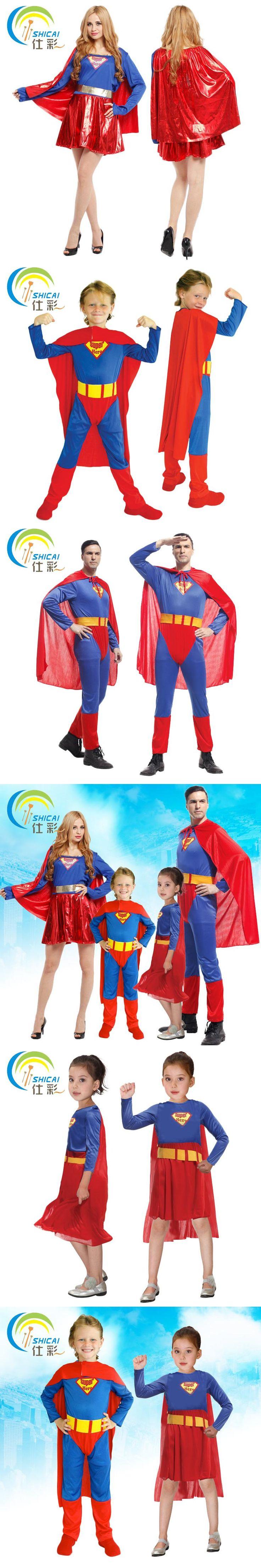Free shipping heroic Superman suit adult men and women dance parties cosplay costume Halloween Christmas child superhero costume
