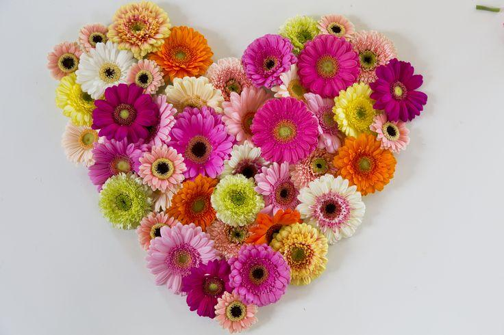 DIY bloemenhart voor moederdag