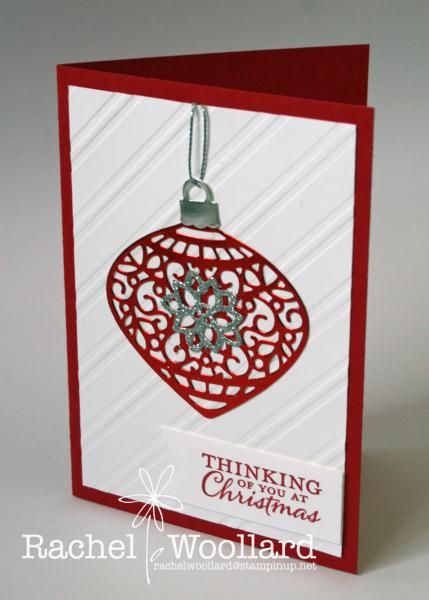 Red and White Delicate ornament by Rach W - Cards and Paper Crafts at Splitcoaststampers