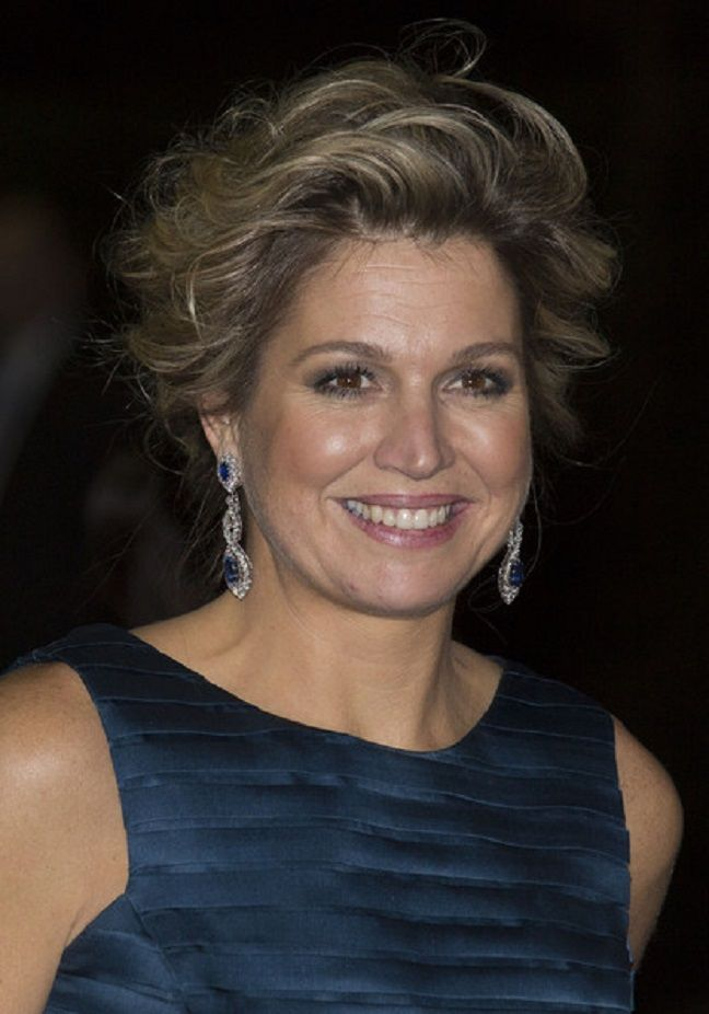 Queen Maxima of The Netherlands leaves after attending a celebration of the reign of Princess Beatrix on 01.02.14 in Rotterdam, Netherlands.