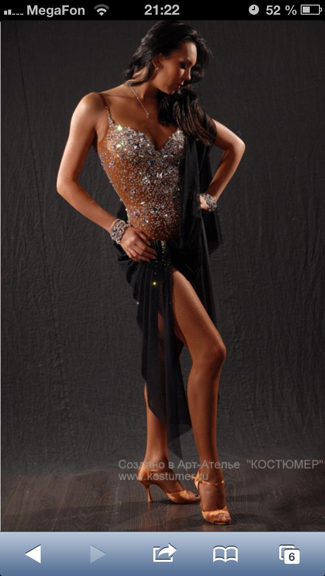 Draped dress latin black tan