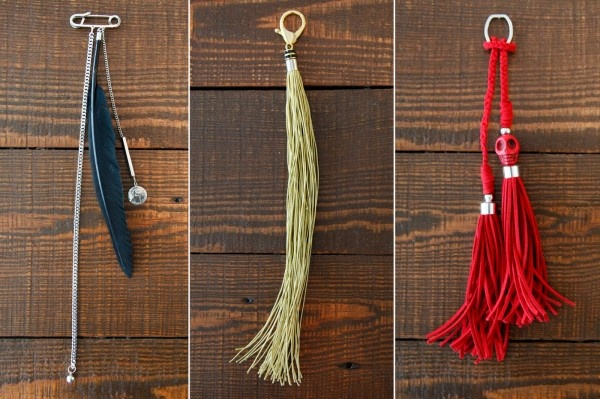 DIY tassels to revamp your bags! the red skull, rock on...\m/