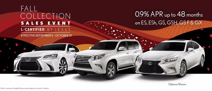 It is time for the 2017 L/Certified Fall Collection Sales Event, where qualified customers will have the opportunity to take advantage of exceptional offers available on select L/Certified models Sept 5 - Oct 31st. View inventory: http://qoo.ly/hni9m