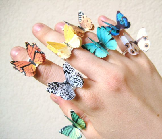 these butterfly rings are so unique. would love to wear them