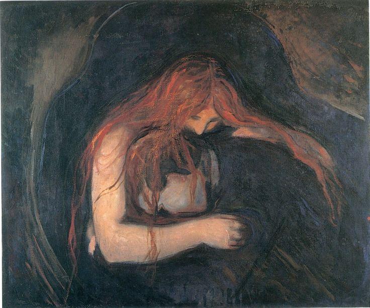 La donna vampiro, Edvard Munch, 1893-94