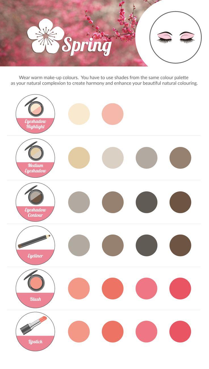 SPRING Make-up Colour Chart.