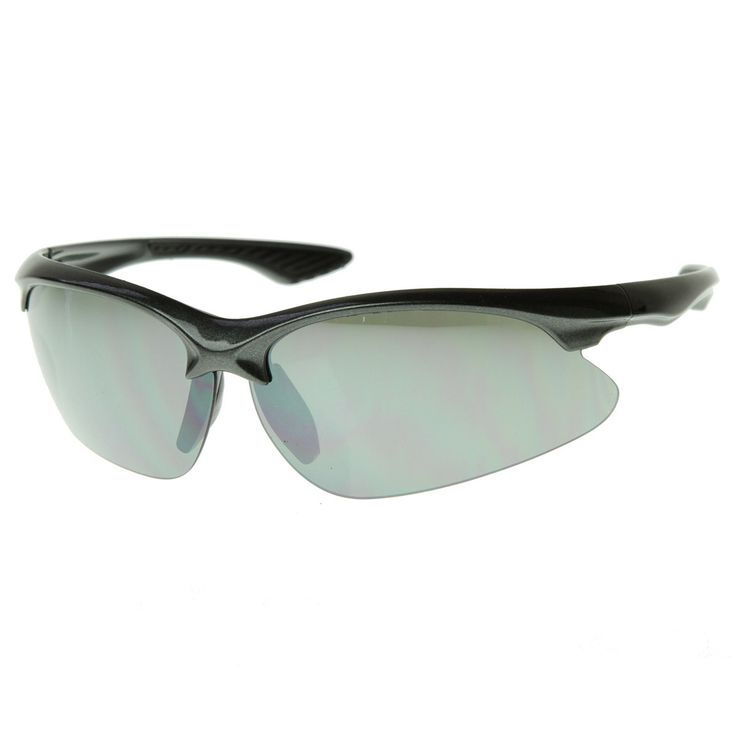 Top Quality TR-90 Semi-Rimless Half Frame Sports Sunglasses UV400 Golf/Cycling