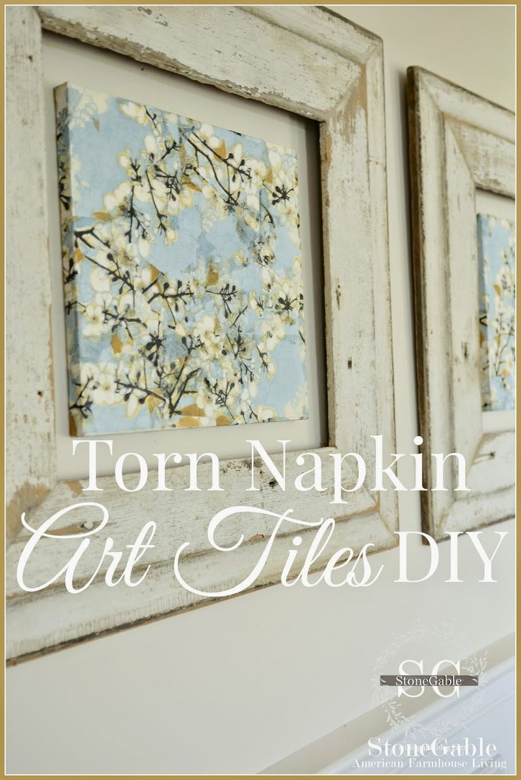 Easy and Beautiful Art from Torn Napkins! This is a project that a non-crafter can do!