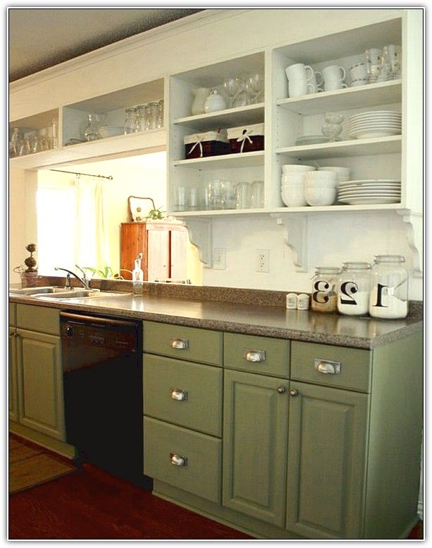 Upper kitchen cabinets without doors for the home for Kitchen cabinets without doors