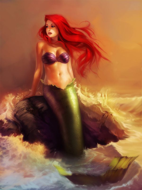 Merm: Tattoo Ideas, Ariel, Red Hair, Real Women, Mermaids Tattoo, Fans Art, Mermaids Art, Realistic Disney Princesses, The Little Mermaids