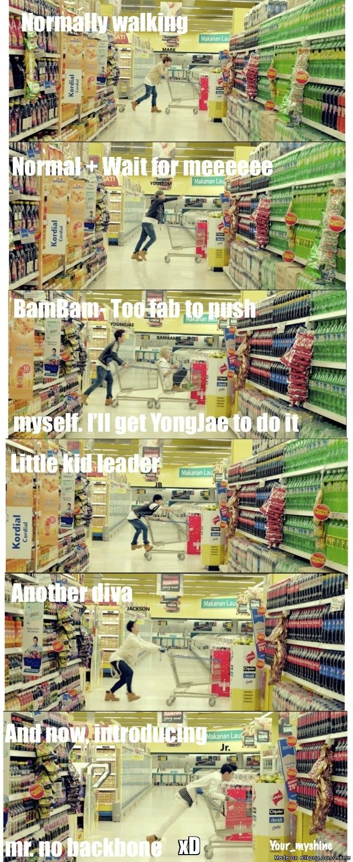 GOT7 at The supermarket | allkpop Meme Center
