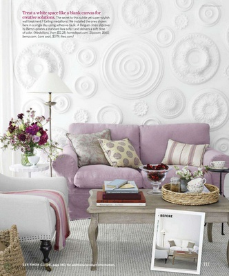 DIY. Awesome wall.: Wall Art, Wall Decor, Living Rooms, Ceilings Medallions, Country Living, Wall Treatments, Texture Wall, Wall Texture, White Wall