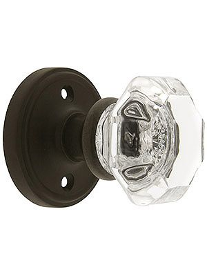 Door Knobs. Classic Rosette Door Set With Waldorf Crystal Door Knobs - Something similar to this - the antique look - for the upstairs doors