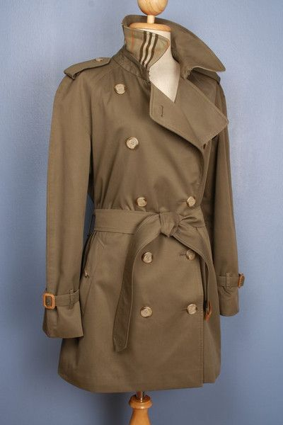 Green Burberry Trench Coat