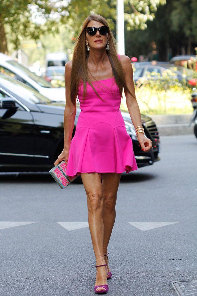 Anna dello Russo at the Giorgio Armani Spring 2013 in Milan.