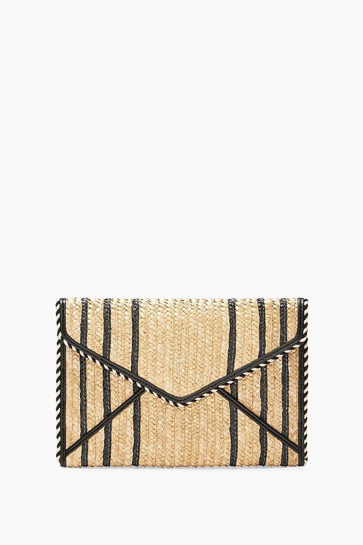 Straw Leo Clutch - Rebecca Minkoff #clutch #strawbag #affiliatelink