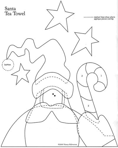 Blog de polaarteemtecido :Pola  -  Arte em Tecido, Molde papai noel
