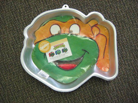 Vintage Teenage Mutant Ninja Turtles Cake Pan SOLD www.vintage-variety.com
