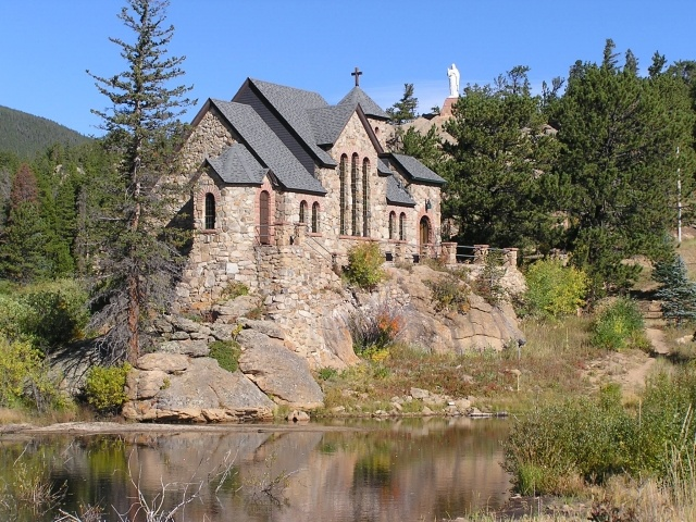 St. Catherine of Siena Chapel in Allenspark CO, gorgeous