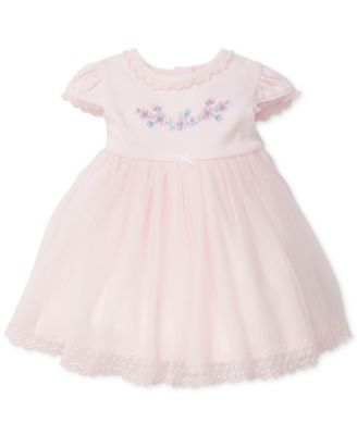 15f5cdc3b39b Little Me Lace-Trim Embroidered Cotton Dress