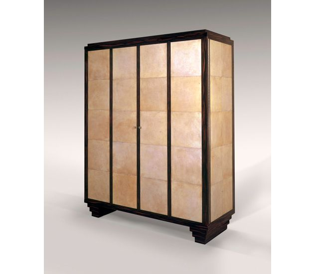 armoire in parchment u0026 macassar ebony see more cabinets u0026 armoires by atelier viollet http