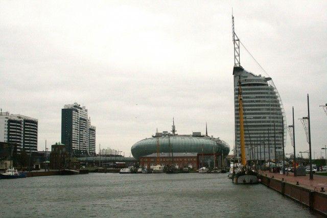 Skyline von Bremerhaven im Winter. Wie wäre es mit einem #Kurzurlaub in #Bremerhaven.