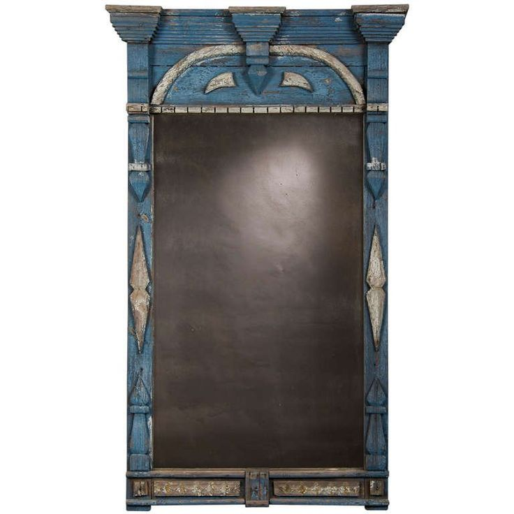 Antique Scandinavian Painted and Carved Window Frame Mirror, circa 1850 | From a unique collection of antique and modern wall mirrors at https://www.1stdibs.com/furniture/mirrors/wall-mirrors/