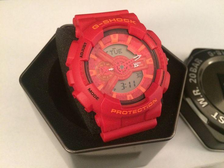 Casio G Shock GA-110AC-4ACR Watch Red/Orange New With Tin And Manual #Nixon
