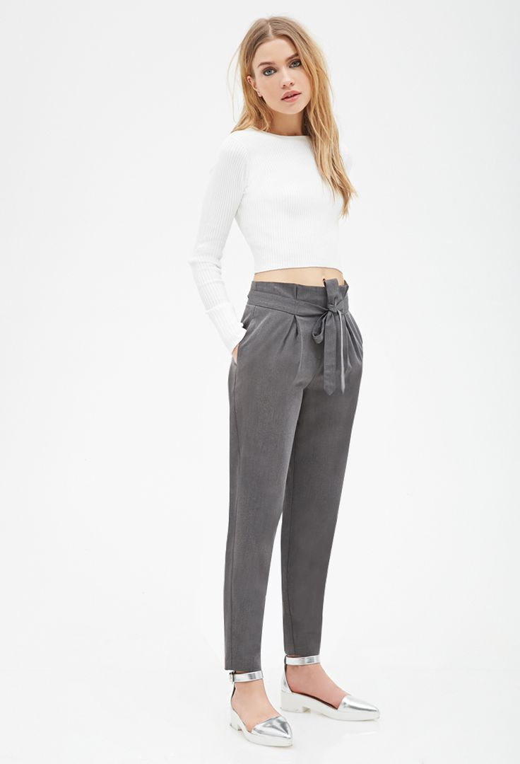 Paper Bag Trousers | Forever 21 - 2000099003