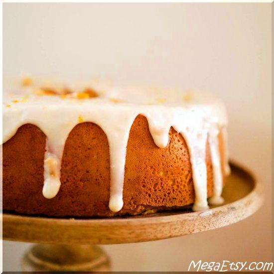 Easy & light orange chiffon cake with orange zest icing. My favorite cake in the world!