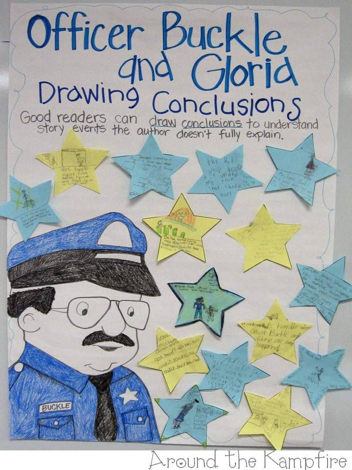 "This week I used one of my favorite books, Officer Buckle and Gloria, to teach about drawing conclusions. We've talked a lot about inferring and how authors often give hints and clues that tell readers more than what they are directly saying. Most of my kiddos are really starting to""read between the lines"" (Lions, as …"