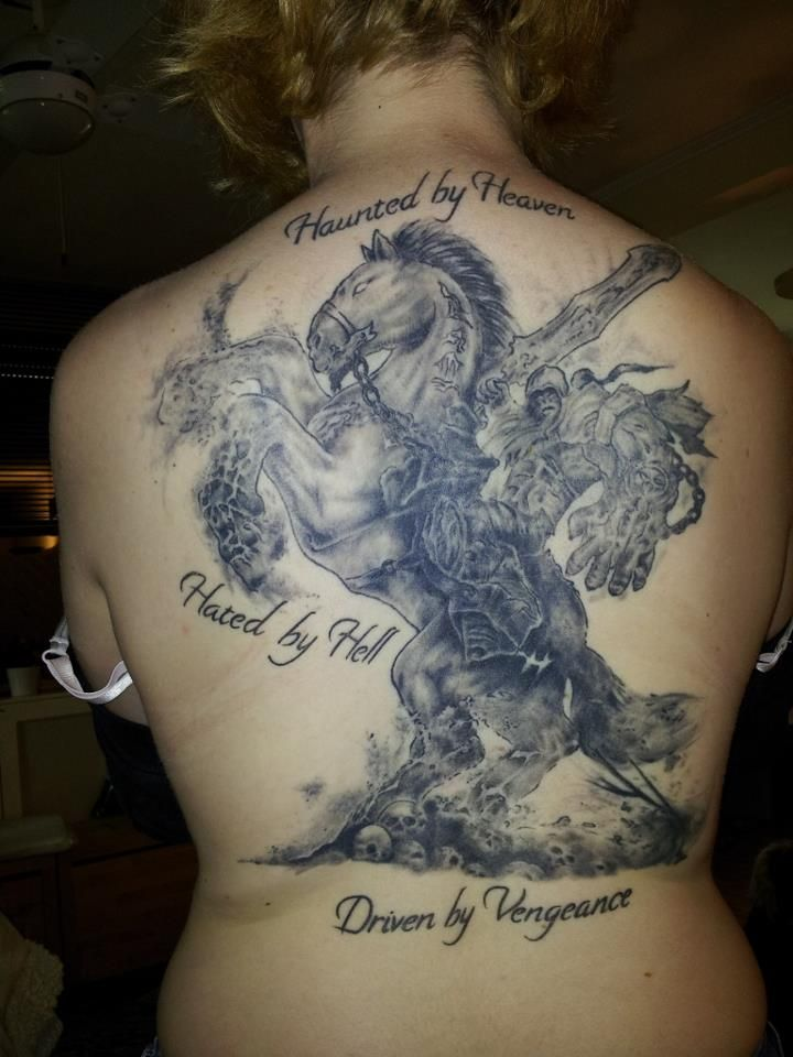 40 best amazing heaven tattoos images on pinterest for Battle between heaven and hell tattoo